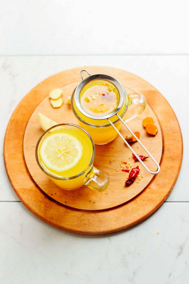 A 5-minute, 3-ingredient tea tonic with ginger, lemon, turmeric, and cayenne. The perfect way to detox the body, heal from a cold, or relax before bed. #lemoncayennedetox