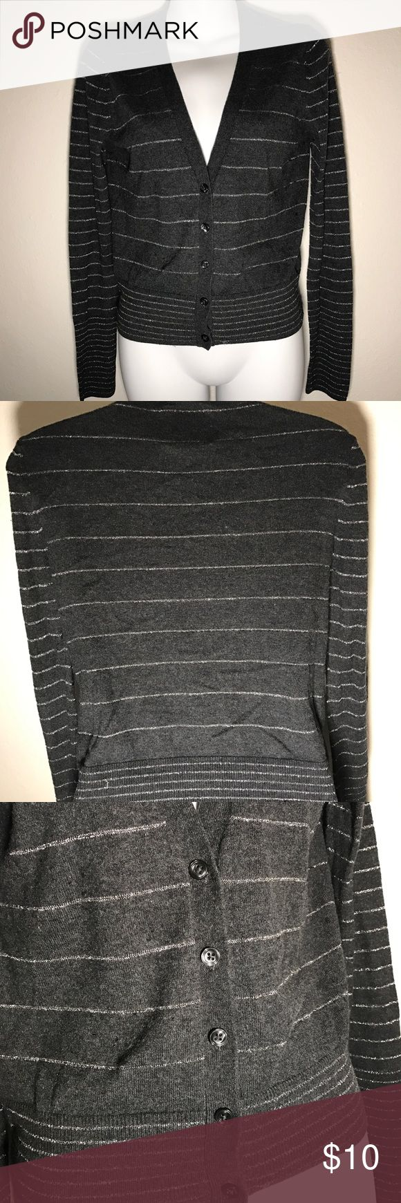 American eagle gray and silver Cardigan medium Pre-owned. Great condition! American Eagle Outfitters Sweaters Cardigans