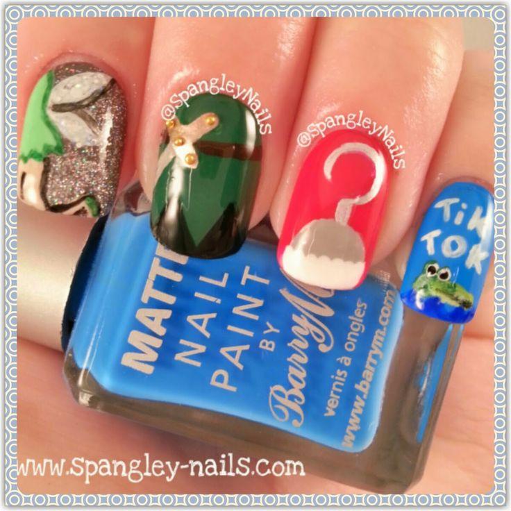 Spangley Nails: Disney Week: {4 Nails, 1 Movie} Day 1 - Peter Pan #Disney #NailArt #PeterPanNailArt