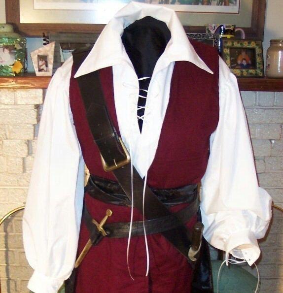 Pirate mens Renaissance Buccaneer Mate custom Costume. $225.00, via Etsy.