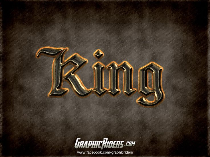 GraphicRiders | Fantasy Game Style – King (free photoshop layer style, text effect, free psd file) #graphicriders