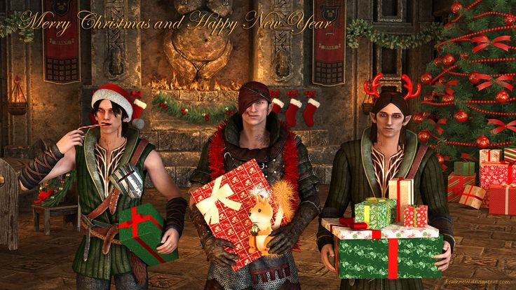 Happy Holidays by Scoia`tael by FeainneW.deviantart.com on @DeviantArt