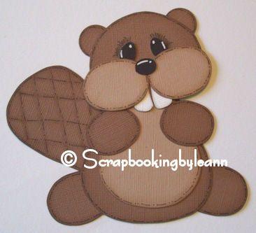 paper piecing | beaver scrapbook paper piecing | Flickr - Photo Sharing!