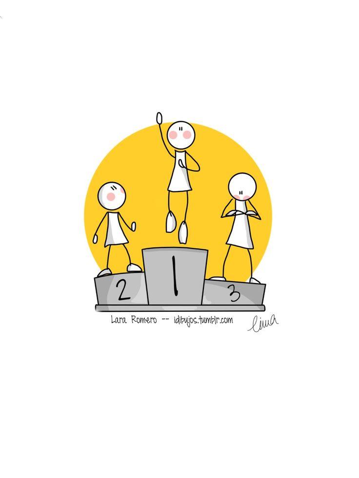 Ilustración para el reto semanal de Tocamates - La carrera - http://www.tocamates.com/la-carrera/
