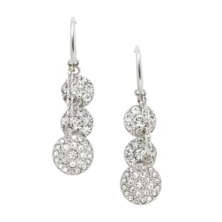 Orecchini pendenti con cristalli #FOSSIL Jewels - #ororagioiellerie