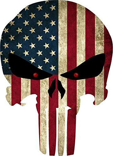 "Grunge Style US Flag Punisher Skull Reflective Decal 8""x5.75"" Yeti Signs http://www.amazon.com/dp/B01257LSOC/ref=cm_sw_r_pi_dp_Noi4wb08Z44A6"