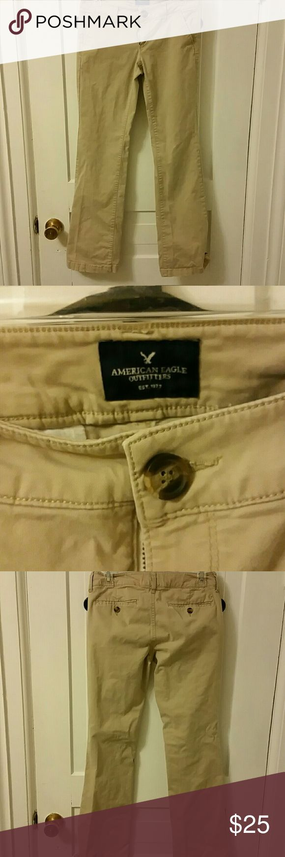 American Eagle kaki pants American Eagle kaki pants. Worn twice, great condition,  no stains or wear. American Eagle Outfitters Pants