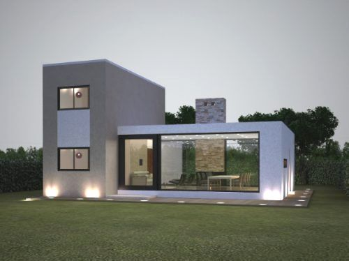 Diseo de una casa de campo sencilla que cuenta con una moderna