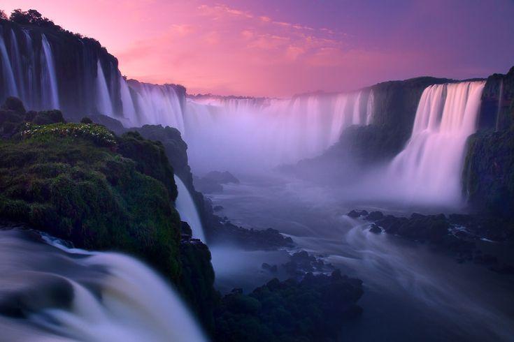 Iguazu Falls (Foz do Iguassu) at sunrise, Brazil by Richard Bernabe, via 500px