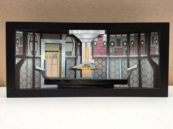 Arzt, die Tardis innen shadowbox diorama
