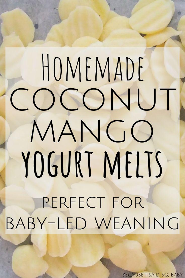 Homemade Coconut Mango Baby Yogurt Melts