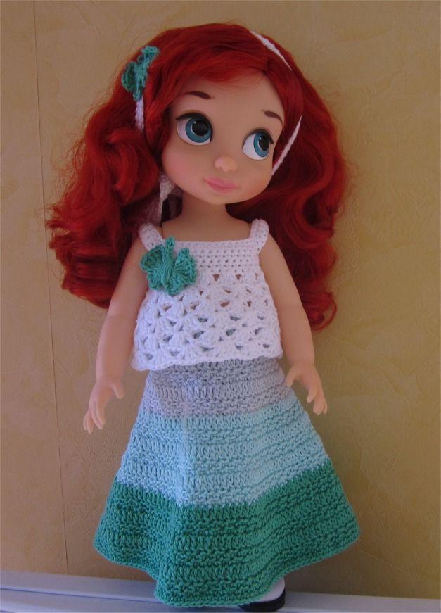 80- FICHE PATRON Tenue Miss Papillon au crochet pour poupée Animator : Jeux, jouets par atelier-crochet