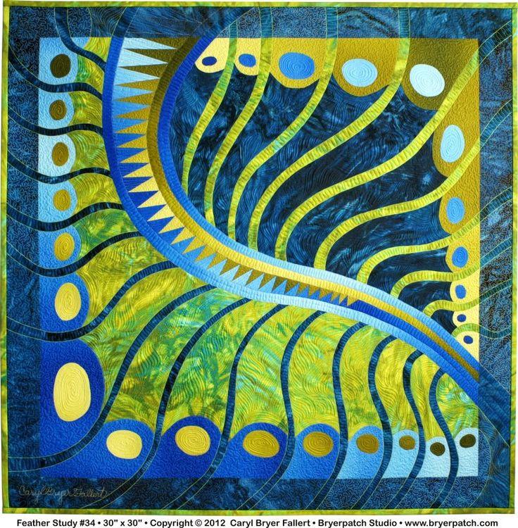 Feather Study #34 - Copyright© 2012, art quilt by Caryl Bryer Fallert, Paducah KY & Port Townsend WA