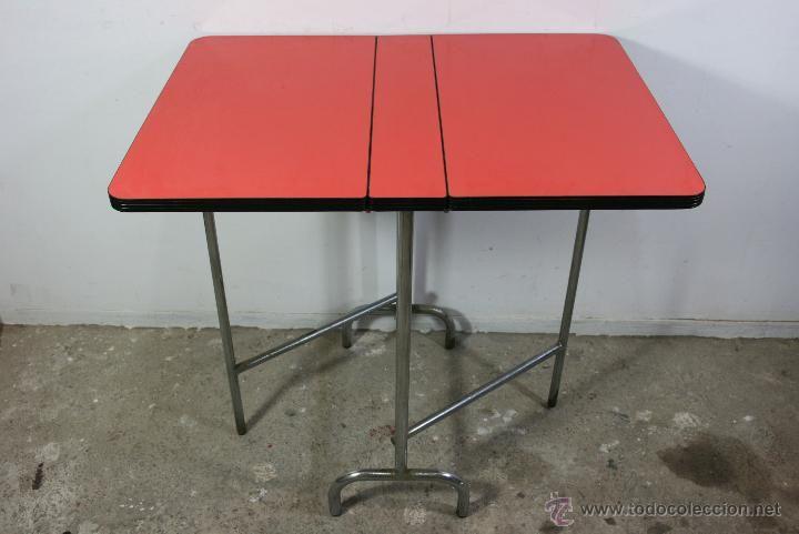 Mesa de cocina de formica plegable / años 60