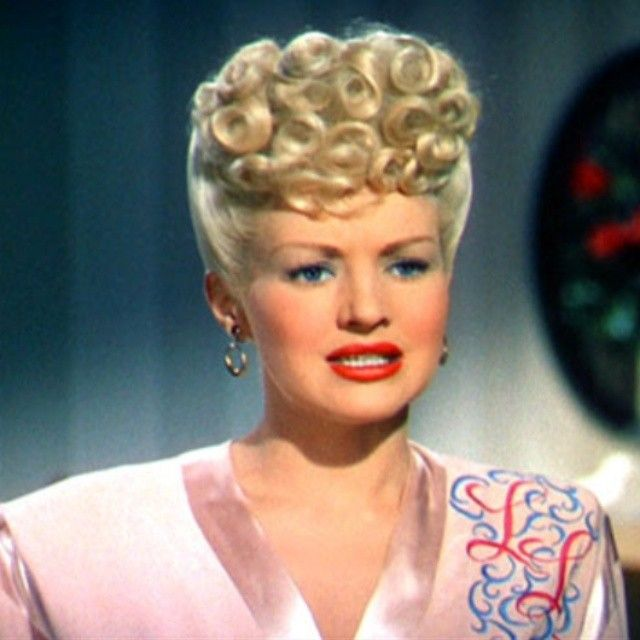 Betty Grables Poodle Up Do
