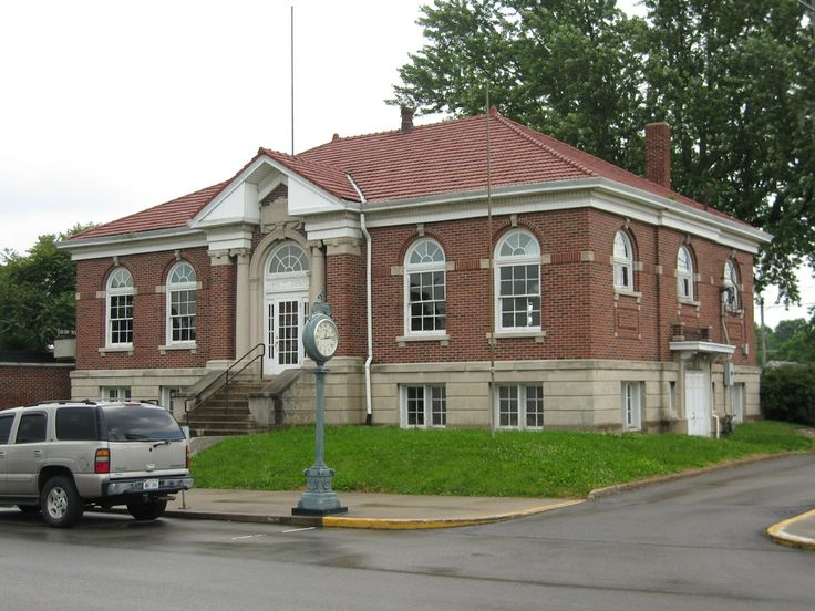 Carnegie Libraries in Indiana. Shown: North Vernon library