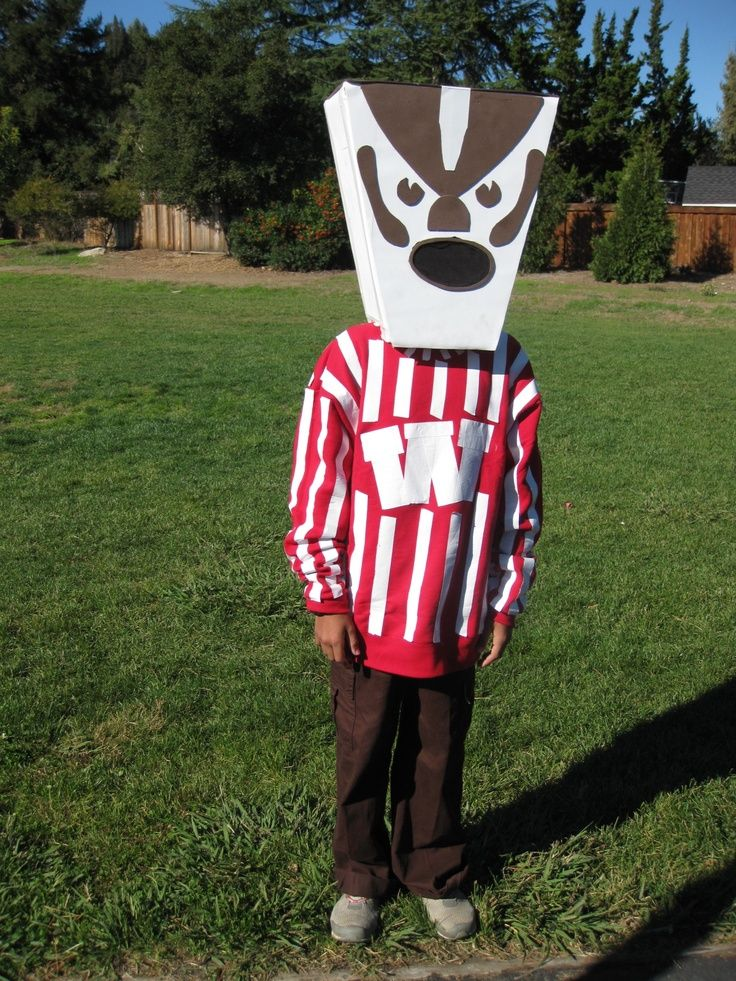 bucky+badger+images | Bucky Badger Costume created by S.G. -- total genius!