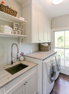 HWC Folly Kitchen - Traditional - Laundry Room - charleston - by Matthew Bolt Graphic Design