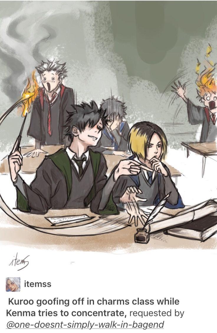 Kuroken haikyuu and Harry Potter
