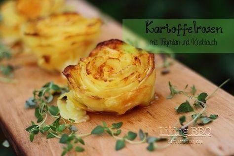 Kartoffelrosen mit Thymian und Knoblauch