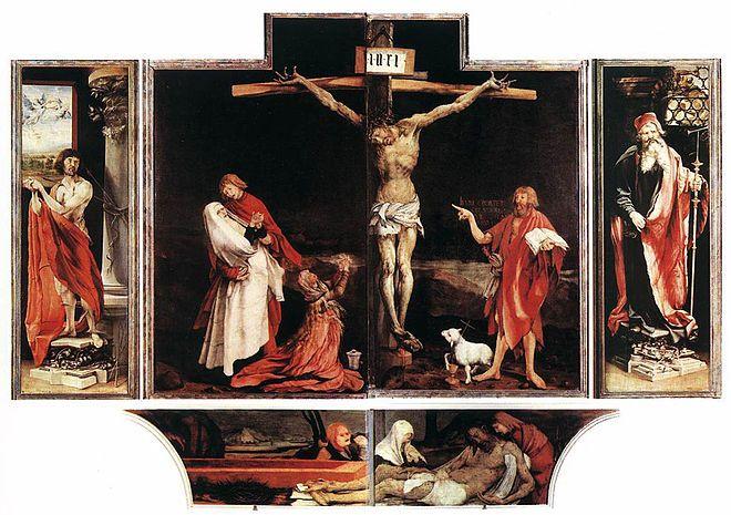 Issenheim's Altarpiece, in Colmar (France)