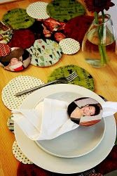 Make you holiday table setting even more meaningful with these Reversible Family Photo Placemats.