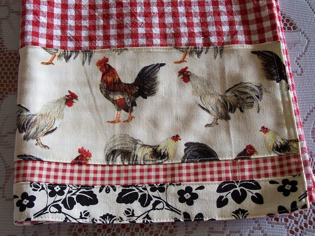 French cottage chic decorative tea towel. by Decorative Towels - Created by Cath., via Flickr