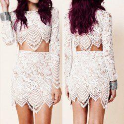 Lace Skirt Twinset