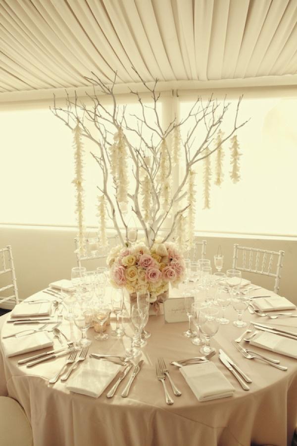 Best ideas about white branch centerpiece on pinterest