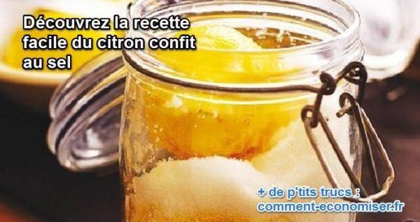 la recette maison rapide et facile pour faire facilement des citrons confits au sel à la marocaine