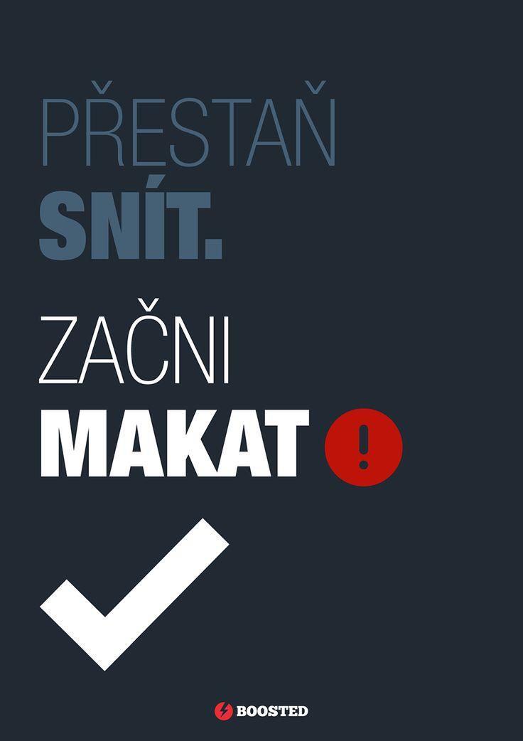 Motivační plakát Makej (Česky)