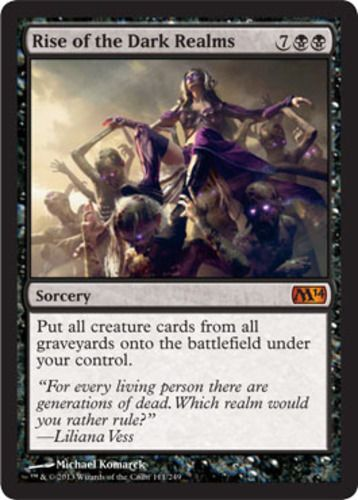 Rise of the Dark Realms Magic the Gathering mtg black mythic rare card sorcery spell