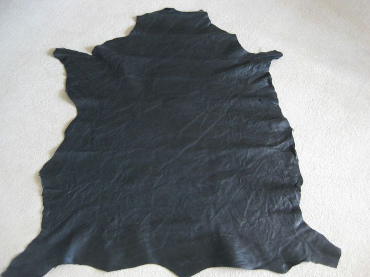 7.53 SQUARE FEET (Sq.Ft) GOAT LEATHER HIDE - BLACK CREASED in Crafts, Leathercraft | eBay