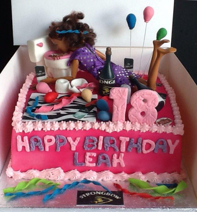 Drunk Barbie Cake 21st Birthday Day Pinterest Drunk