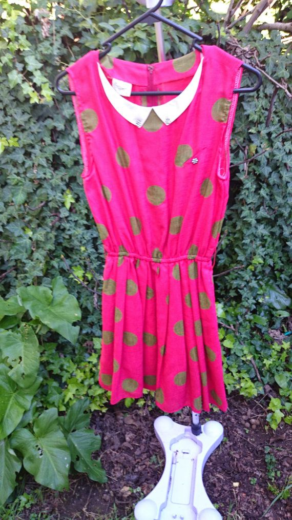 Hey, I found this really awesome Etsy listing at https://www.etsy.com/listing/198918829/red-and-gold-spotted-dress