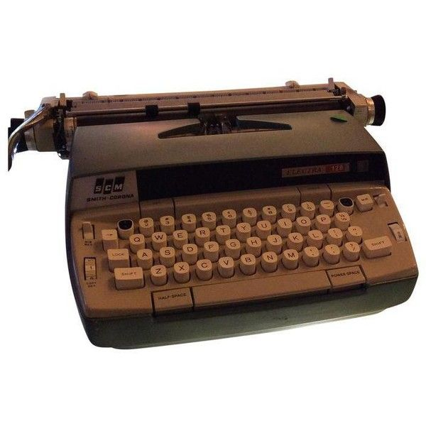 Smith Corona Electric Typewriter WIth Case ($145) ❤ liked on Polyvore featuring home, home decor and decor