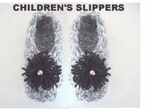HOW TO CROCHET ADULT SLIPPERS - YouTube
