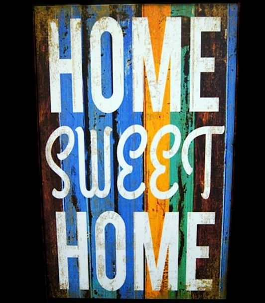Home Sweet Home - 20x30cm MDF Material - 125K