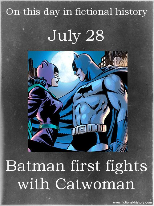 """""""Batman first fights with Catwoman."""" (Source)"""