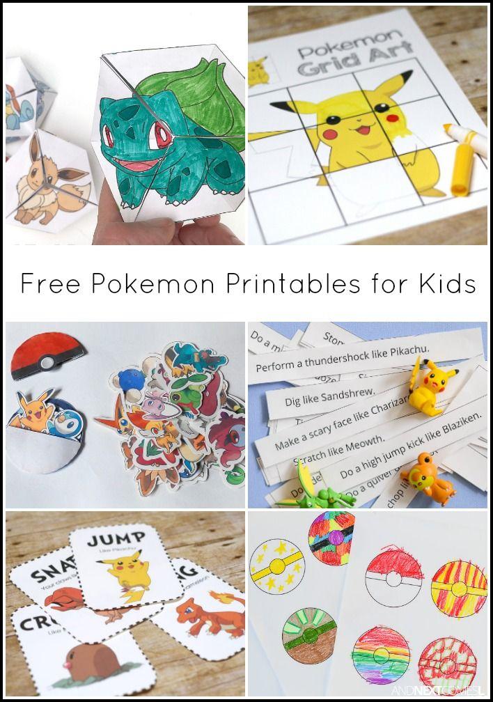 Free Pokemon Printables For Kids 2019 Luokkahuone