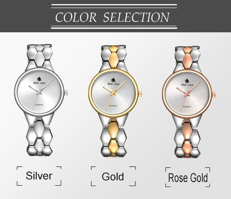 WAL-JOY WJ-9001 Luxury Women Quartz Watch Fashion Alloy Strap Ladies Dress Watch