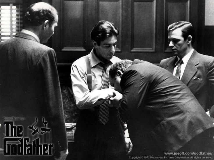 The deal is done. Michael is officially acknowledged as Godfather. Love this moment.