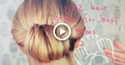 How-to: 3 easy hair styles for busy moms - Elle Leary Artistry #hairstyles #Easy...,  #Artist...