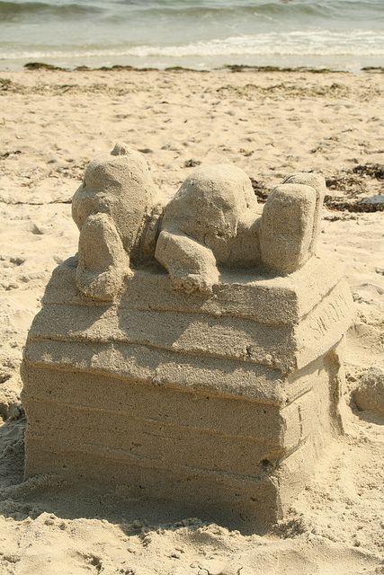 Snoopy sand house! #Snoopy