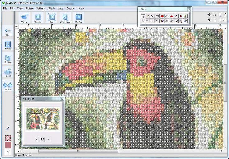 4 programas para convertir imágenes a patrones de punto cruz | Aprender manualidades es facilisimo.com