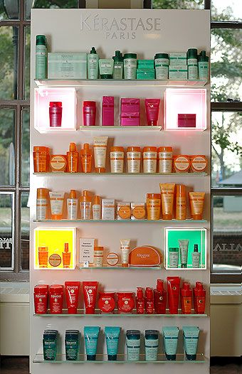 Kerstase hair care product display
