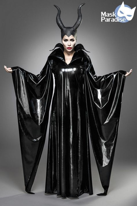 Maleficent Lady Costume Gothic Carnival Carnival Ladies Disguise Halloween NEW