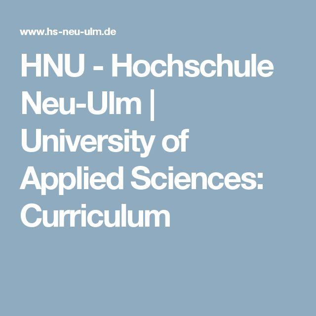 HNU - Hochschule Neu-Ulm | University of Applied Sciences: Curriculum