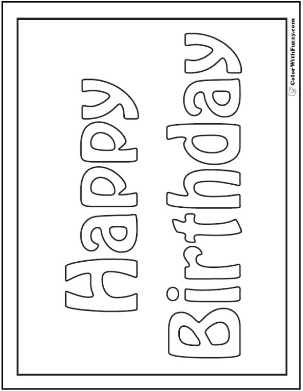 9 best Birthday Coloring Pages images on Pinterest Birthday