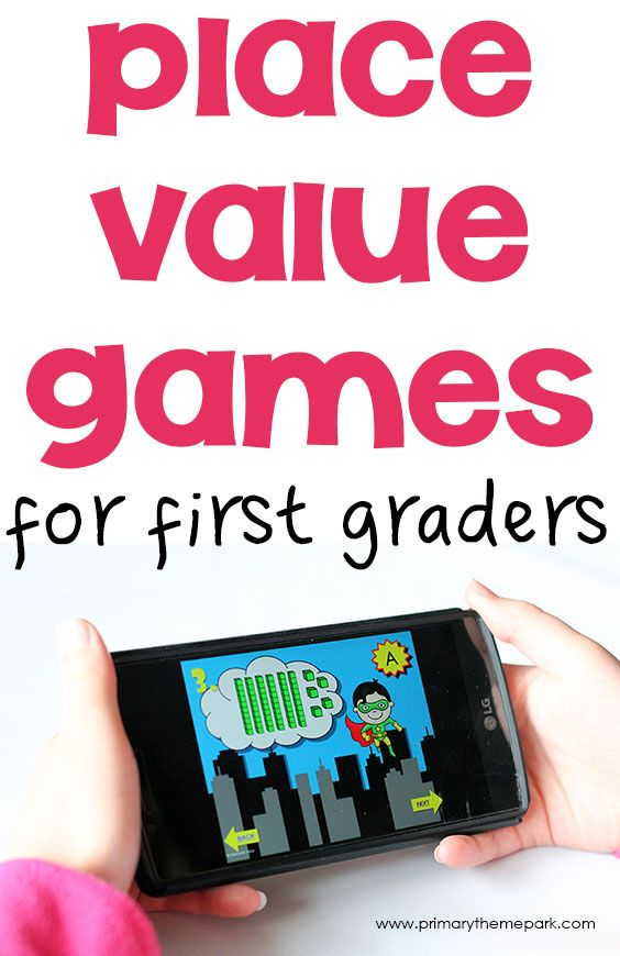 Fun and engaging place value games for first grade that are perfect for math centers or whole class activities. Includes free printables.